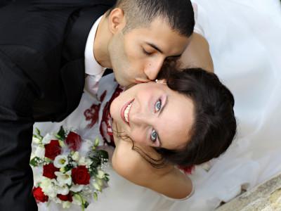 Photo de mariage de Karina Balzer, regard vers le ciel